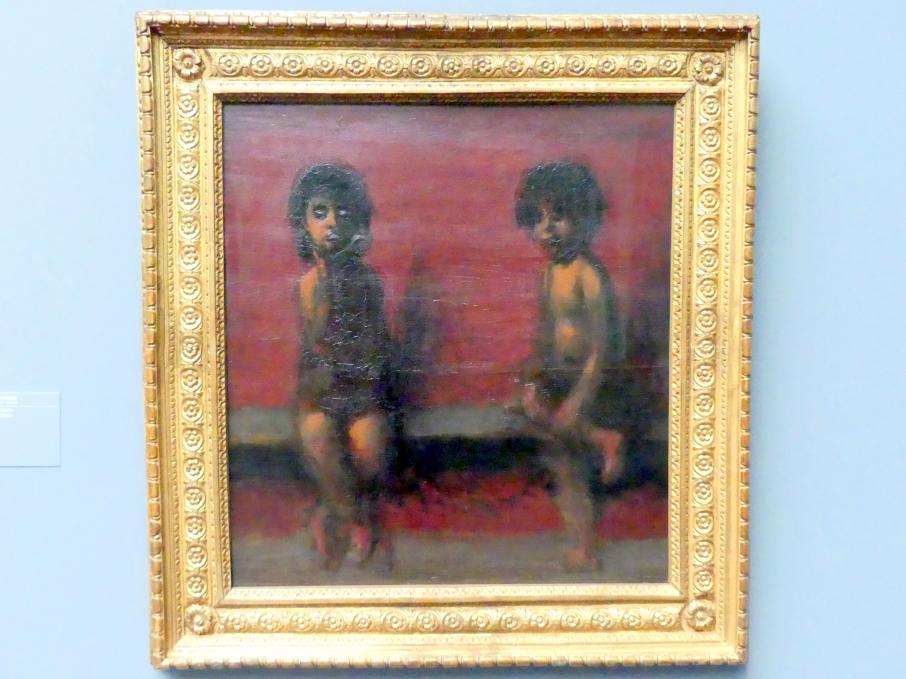 Hans von Marées: Zwei sitzende Kinder, 1885 - 1887