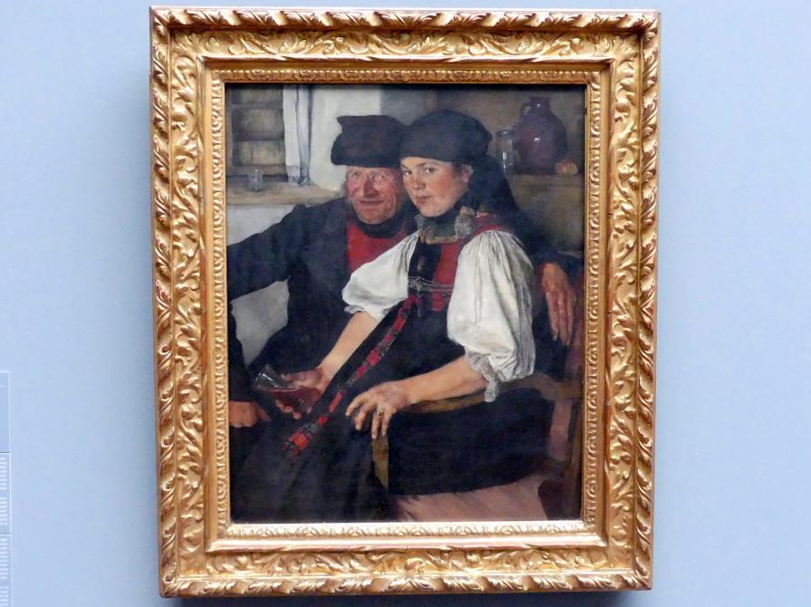 Wilhelm Leibl: Älterer Bauer und junges Mädchen; Das ungleiche Paar, 1876 - 1877