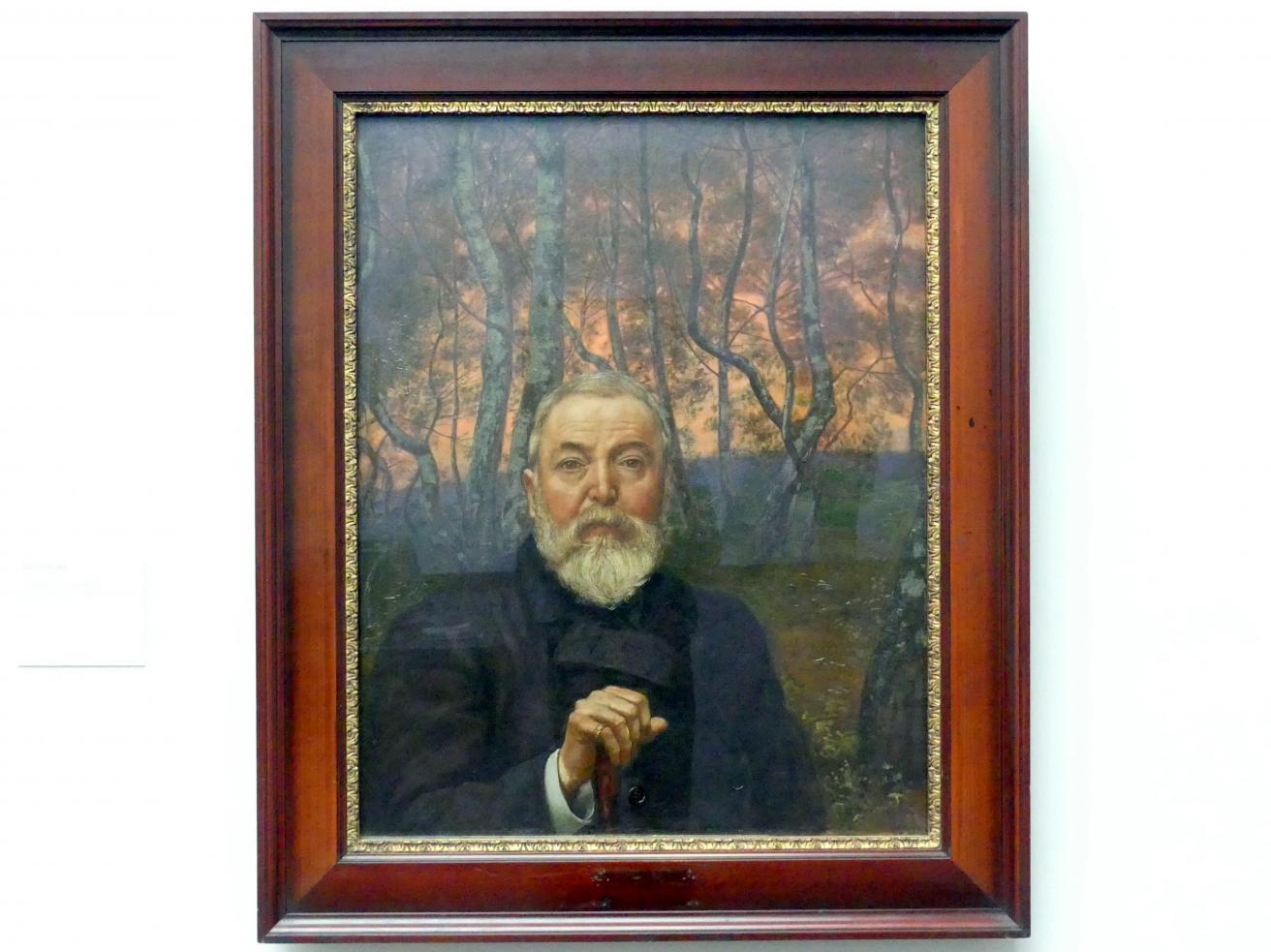 Hans Thoma: Selbstbildnis vor Birkenwald, 1899