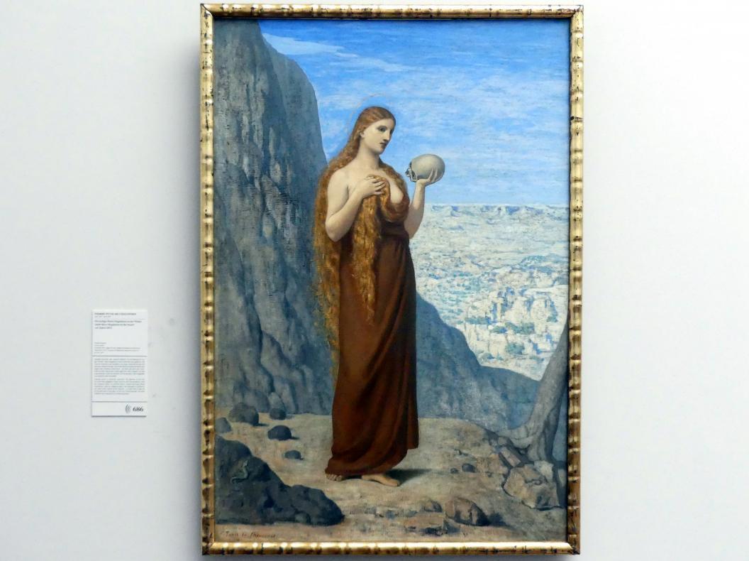 Pierre Puvis de Chavannes: Die heilige Maria Magdalena in der Wüste, Vor 1870