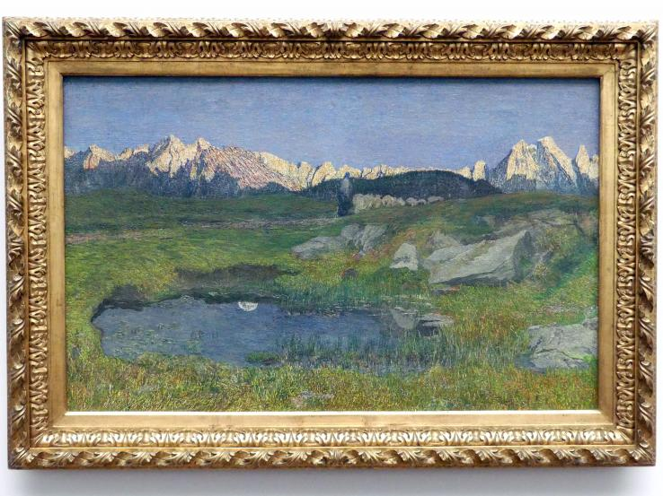 Giovanni Segantini: Alpenlandschaft bei Sonnenuntergang, 1895 - 1898
