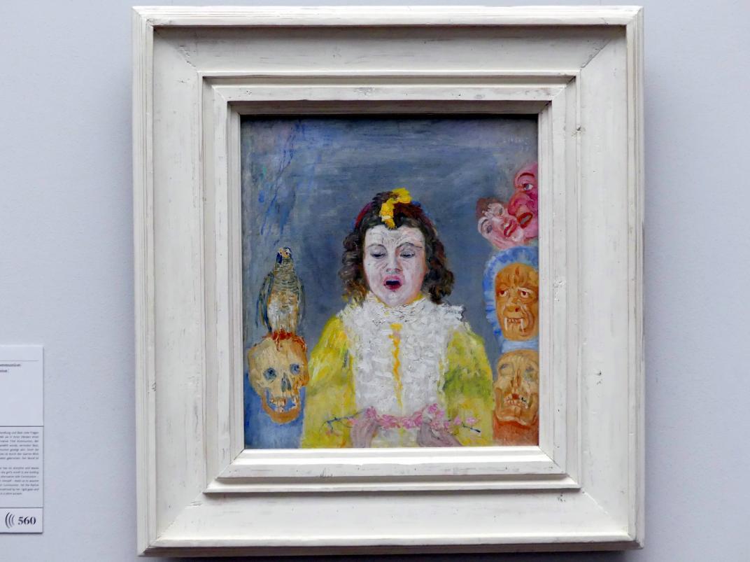 James Ensor: Mädchen mit Masken (Kommunion), 1921