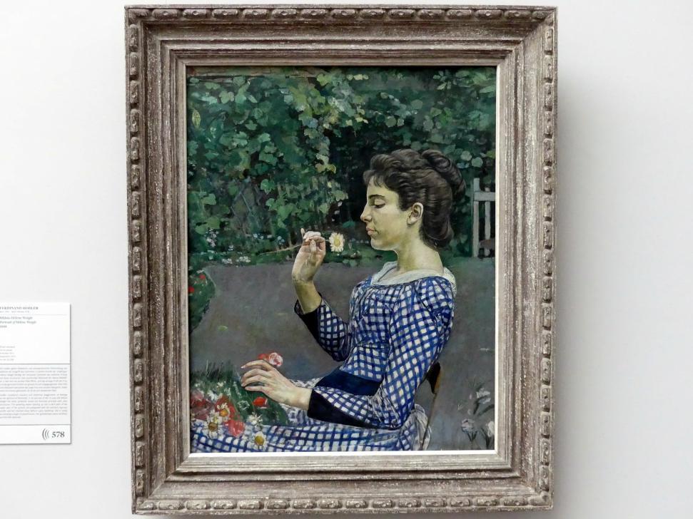 Ferdinand Hodler: Bildnis Hélène Weiglé, 1888