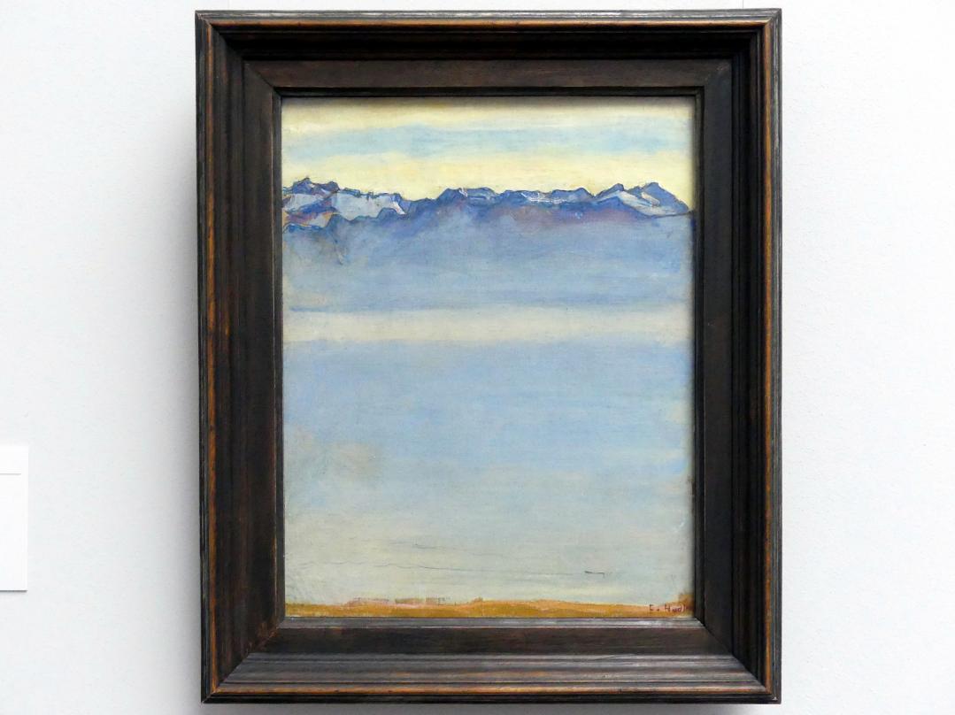 Ferdinand Hodler: Genfer See mit den Savoyer Alpen, 1907