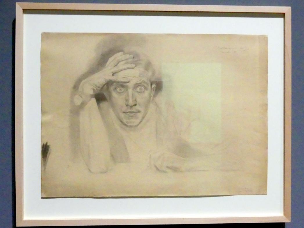 Maximilian Klewer: Selbstbildnis Stargard, 1917