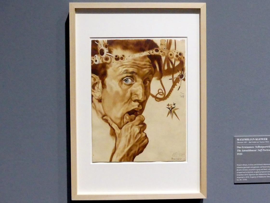 Maximilian Klewer: Das Erstaunen (Selbstportrait), 1920