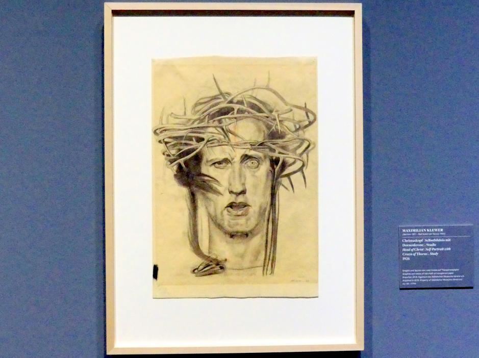 Maximilian Klewer: Christuskopf (Selbstbildnis mit Dornenkrone), 1926