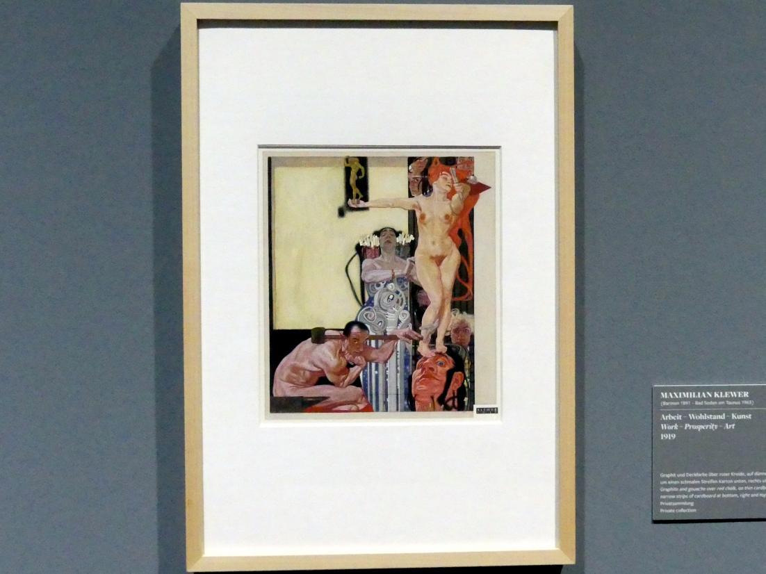 Maximilian Klewer: Arbeit - Wohlstand - Kunst, 1919