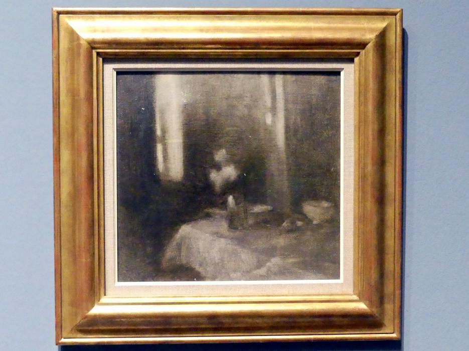 Eugène Carrière: Interieur mit Vase, um 1896