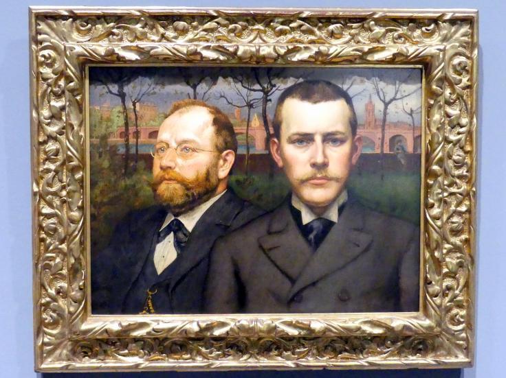 Karl von Pidoll: Doppelbildnis Heinrich Pallmann und Heinrich Weizsäcker, um 1894
