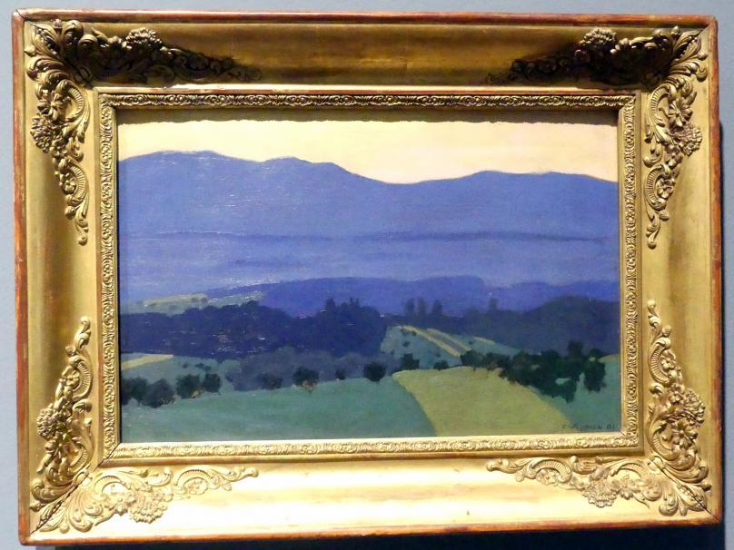 Félix Vallotton: Jura-Landschaft bei Romanel, 1900