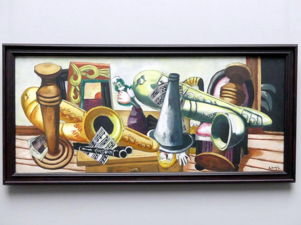 Max Beckmann: Stillleben mit Saxophonen, 1926