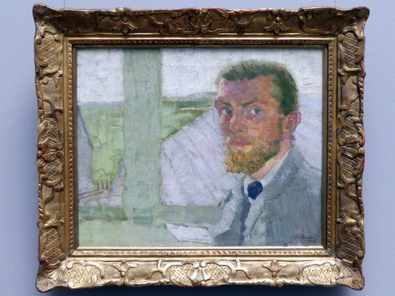 Max Beckmann: Selbstbildnis, 1905, Bild 1/3