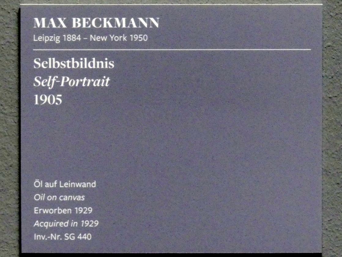 Max Beckmann: Selbstbildnis, 1905, Bild 3/3
