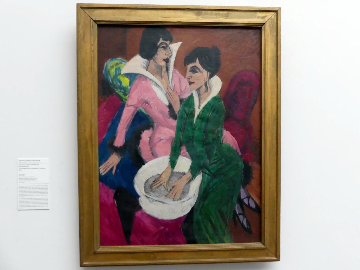 Ernst Ludwig Kirchner: Zwei Frauen mit Waschbecken; Die Schwestern, 1913