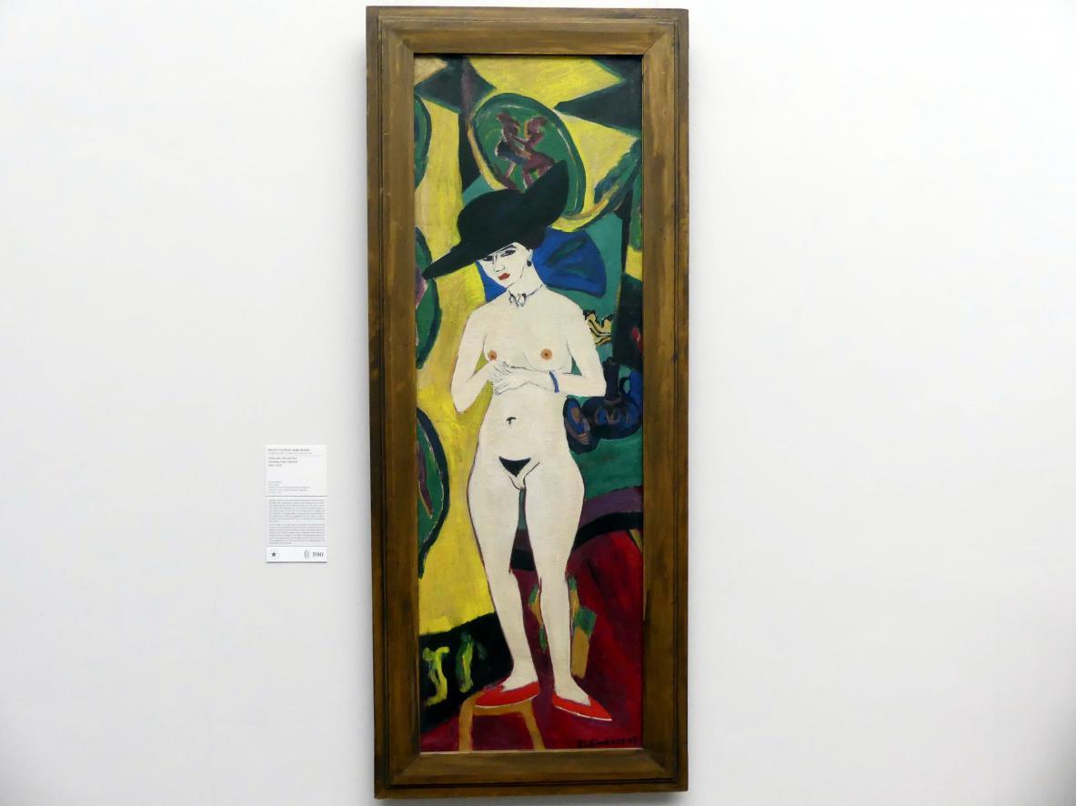 Ernst Ludwig Kirchner: Stehender Akt mit Hut, 1910