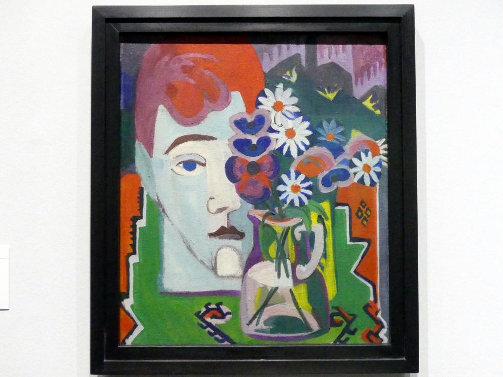 Ernst Ludwig Kirchner: Müllerkopf mit Blumen, 1927