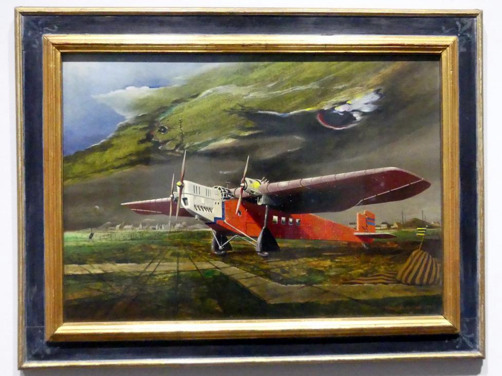 Franz Radziwill: Das rote Flugzeug, 1932