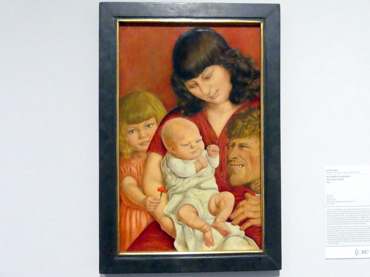 Otto Dix: Die Familie des Künstlers, 1927