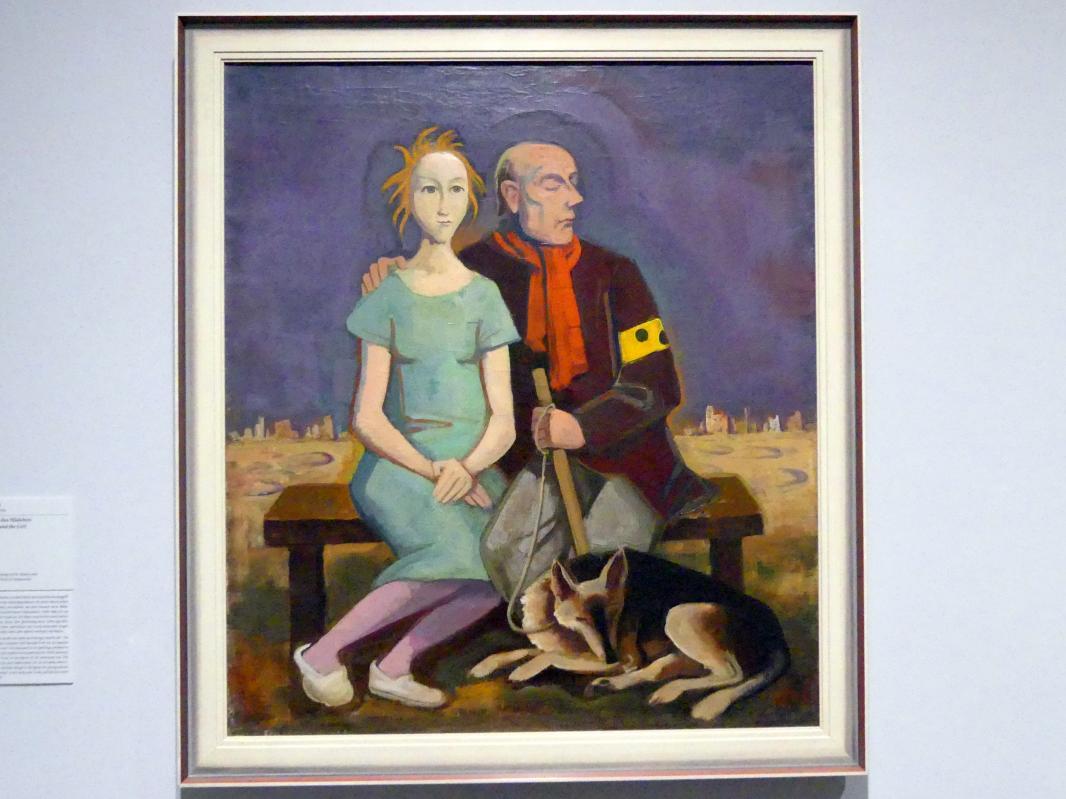 Karl Hofer (Carl Hofer): Der Blinde und das Mädchen, 1943