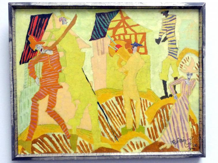 Lyonel Feininger: Trompetenbläser im Dorf, 1915
