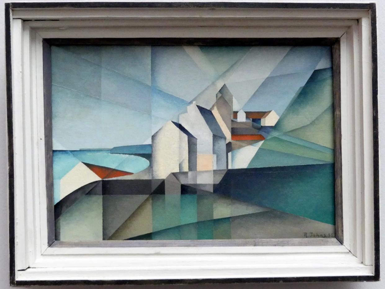 Rudolf Jahns: Häuser an der Steilküste von Boulogne-sur-Mer, 1931