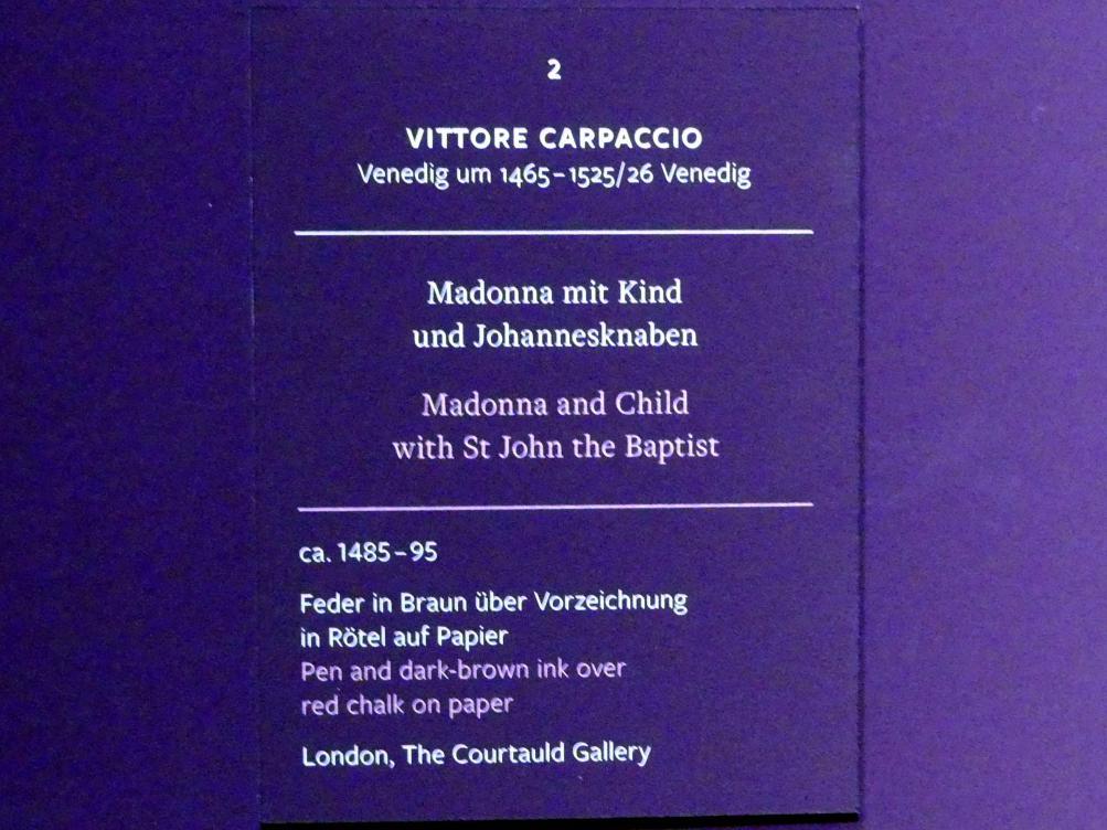 Vittore Carpaccio: Madonna mit Kind und Johannesknaben, um 1485 - 1495, Bild 2/2