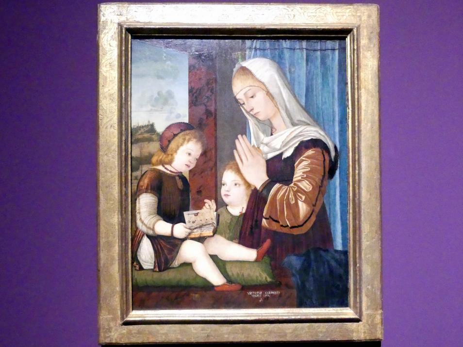 Vittore Carpaccio: Madonna mit Kind und Johannesknaben, Um 1490 - 1500