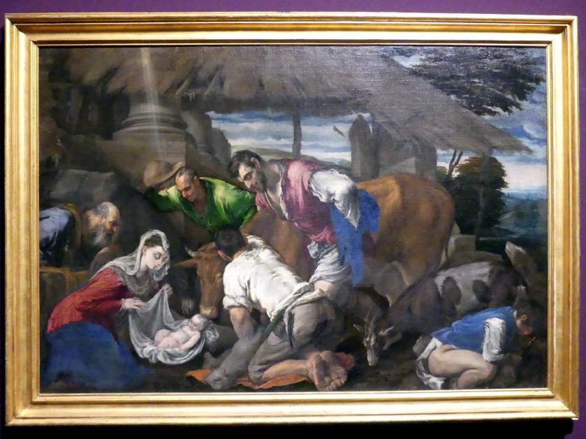 Jacopo Bassano (da Ponte): Anbetung der Hirten, Um 1555 - 1560