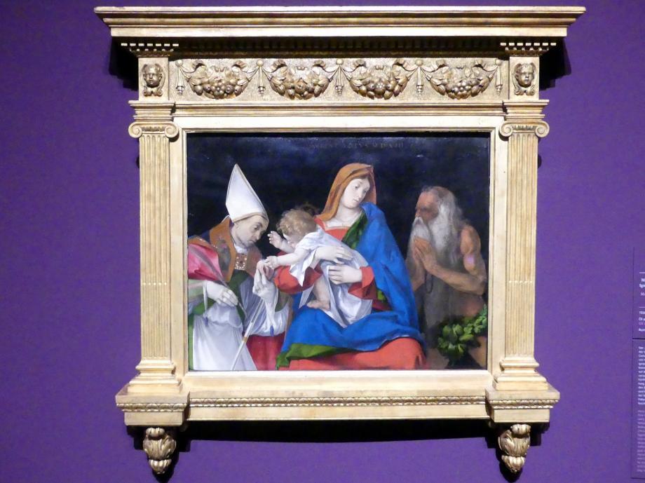 Lorenzo Lotto: Madonna mit Kind und den Heiligen Ignatius von Antiochia und Onophrius, 1508