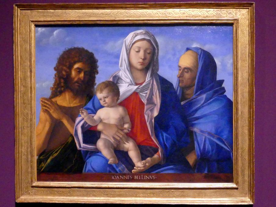 Giovanni Bellini: Madonna mit Kind, Johannes dem Täufer und der heiligen Elisabeth, Um 1500