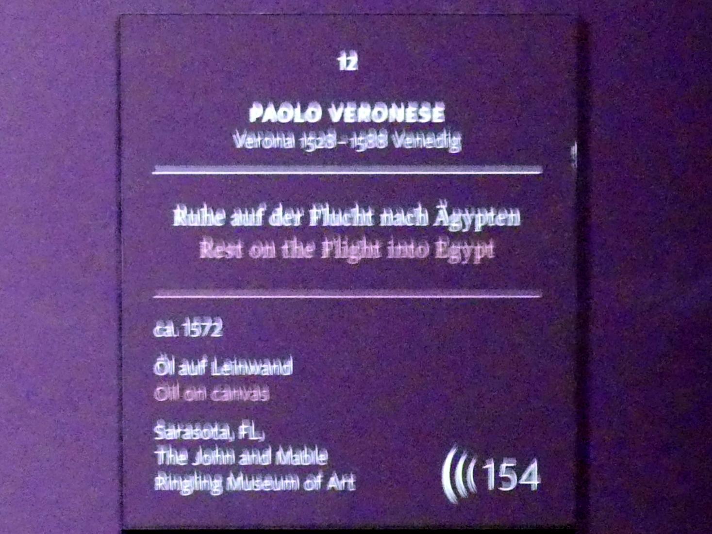 Paolo Caliari (Veronese): Ruhe auf der Flucht nach Ägypten, um 1572, Bild 2/3