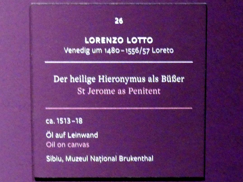 Lorenzo Lotto: Der heilige Hieronymus als Büßer, um 1513 - 1518, Bild 2/2