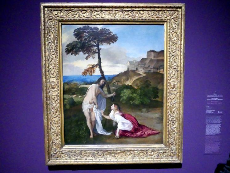 Tiziano Vecellio (Tizian): Noli me tangere (Christus erscheint Maria Magdalena), um 1514