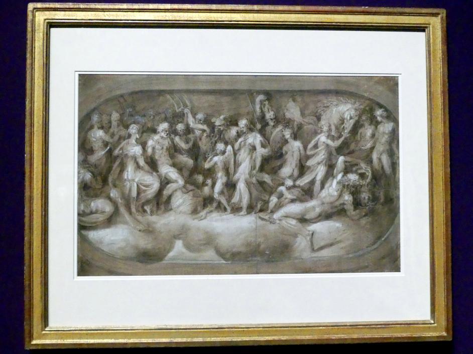 Andrea Schiavone: Amor präsentiert Psyche den Göttern, um 1540 - 1545
