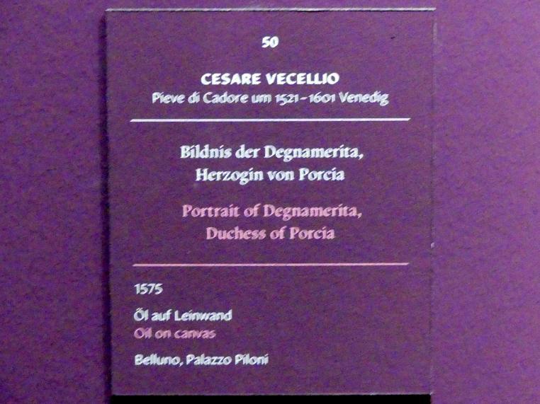 Cesare Vecellio: Bildnis der Degnamerita, Herzogin von Porcia, 1575, Bild 2/2