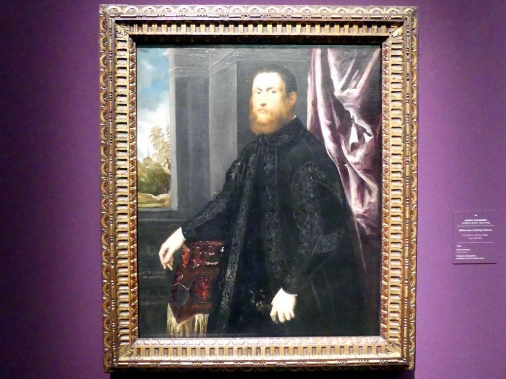 Jacopo Robusti (Tintoretto): Bildnis eines 28-jährigen Mannes, 1548