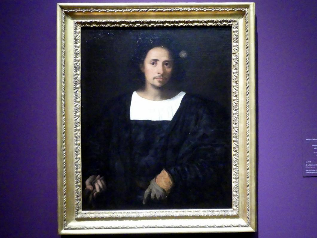 Tiziano Vecellio (Tizian): Bildnis eines Mannes mit Handschuhen, um 1515