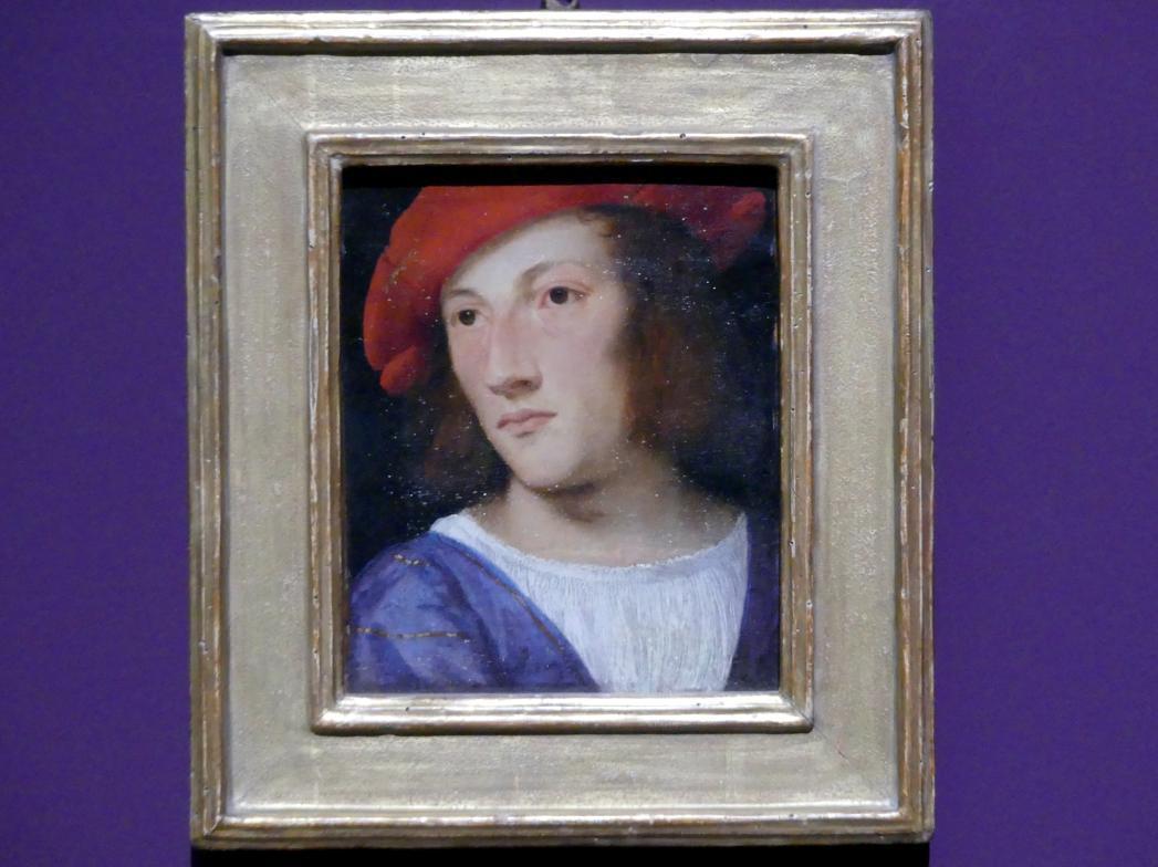 Tiziano Vecellio (Tizian): Bildnis eines jungen Mannes, um 1510