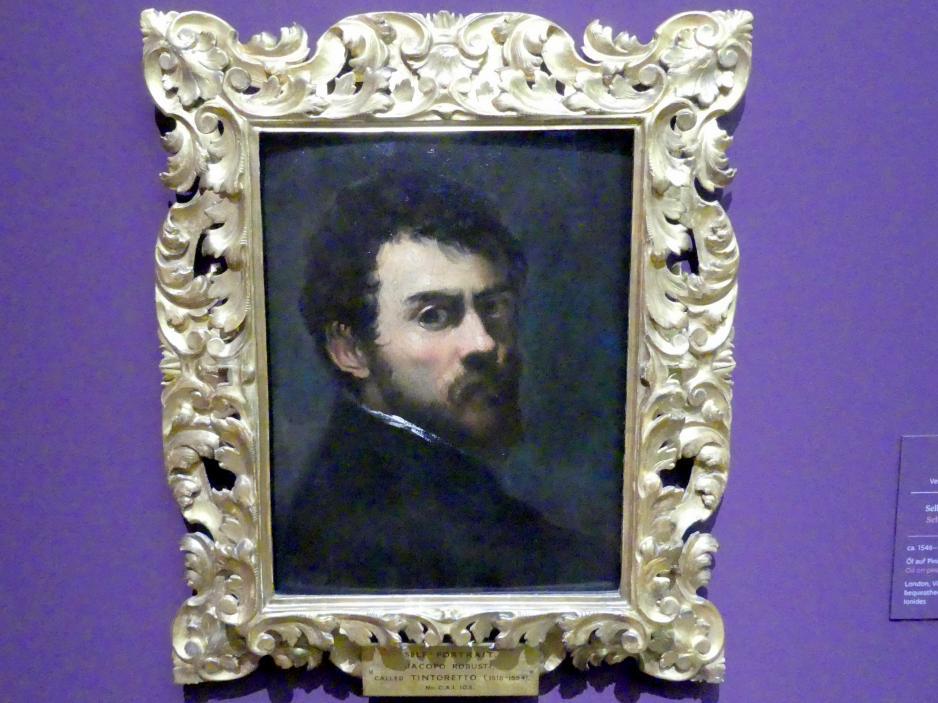 Jacopo Robusti (Tintoretto): Selbstbildnis als junger Mann, Um 1546 - 1548