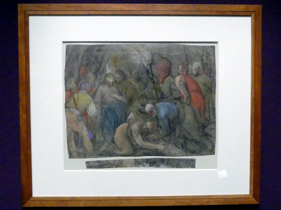 Jacopo Bassano (da Ponte): Studie für eine Gefangennahme Christi, 1568