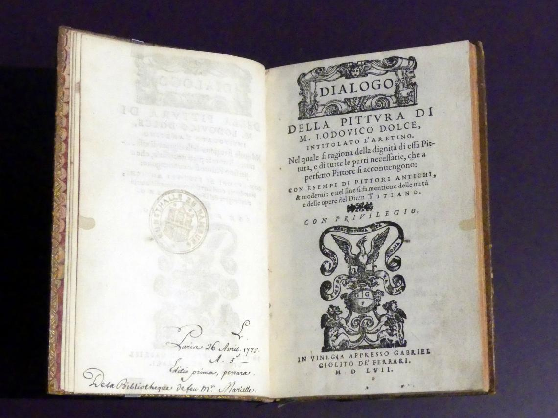 Lodovico Dolce: Dialogo della pittura di M. Lodovico Dolce, intitolato l'Aretino, 1557