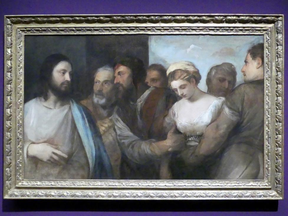 Tiziano Vecellio (Tizian): Christus und die Ehebrecherin, um 1530