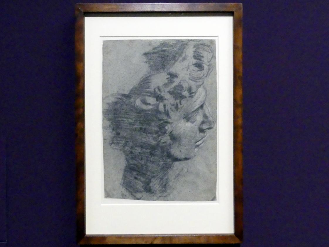 Jacopo Robusti (Tintoretto): Studie nach einem Abguss des Kopfes von Michelangelos Giuliano de' Medici, Um 1540 - 1590