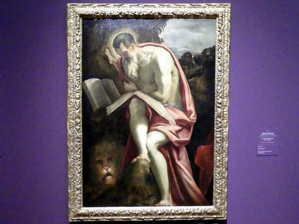 Tintoretto (Jacopo Robusti): Der heilige Hieronymus in der Wüste, um 1571 - 1572