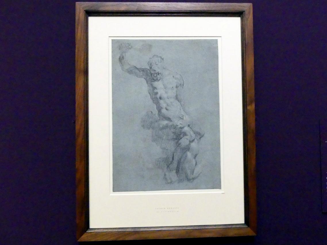 Jacopo Robusti (Tintoretto): Studie nach einem Modell nach Michelangelos Samson-Gruppe, Um 1540 - 1590