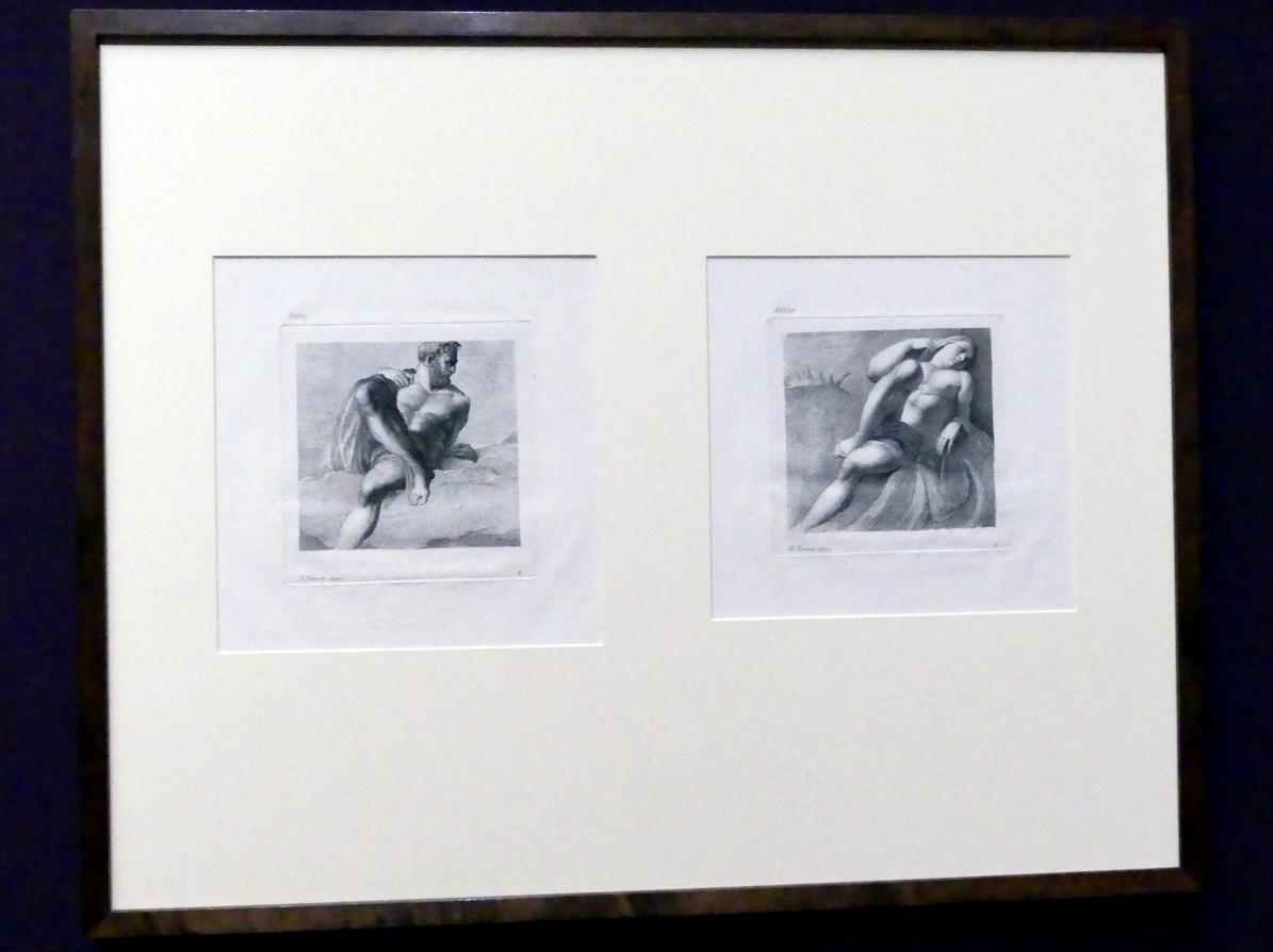 Antonio Maria Zanetti: Stich nach Jacopo Tintorettos zerstörten Fassadenfresken der Ca' Gussoni, 1760