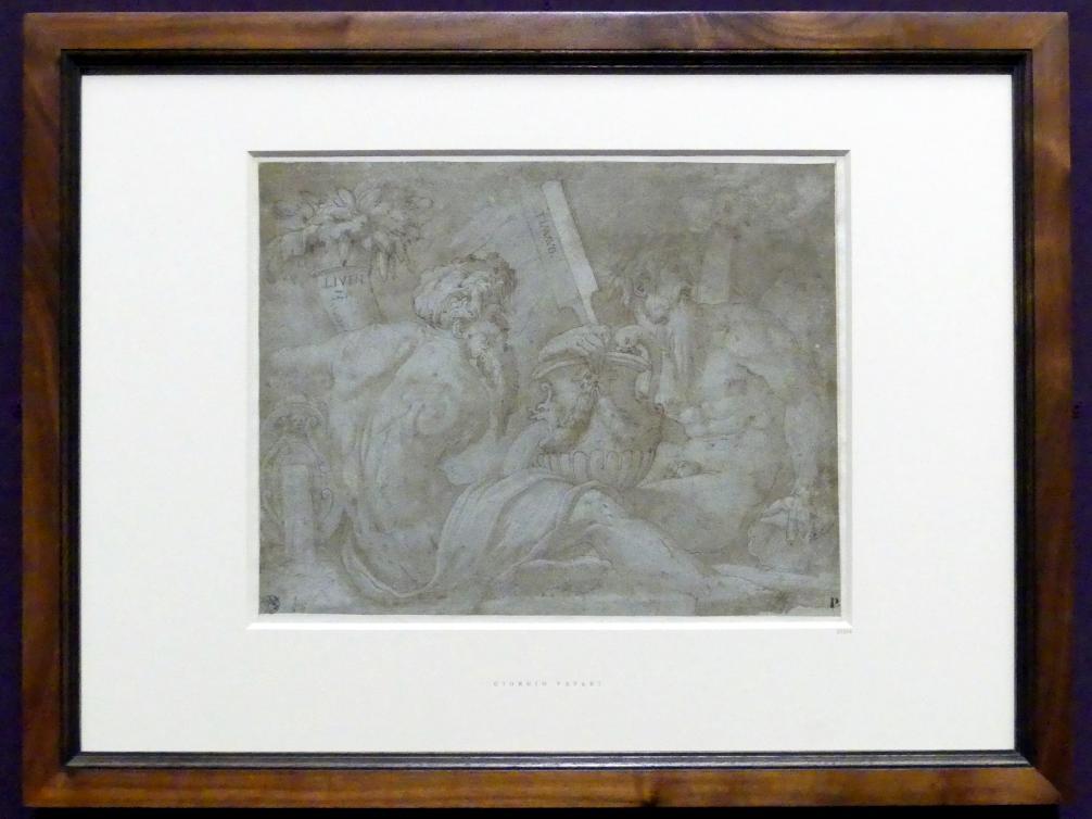 Giorgio Vasari: Studie für drei Flussgötter, 1541 - 1542