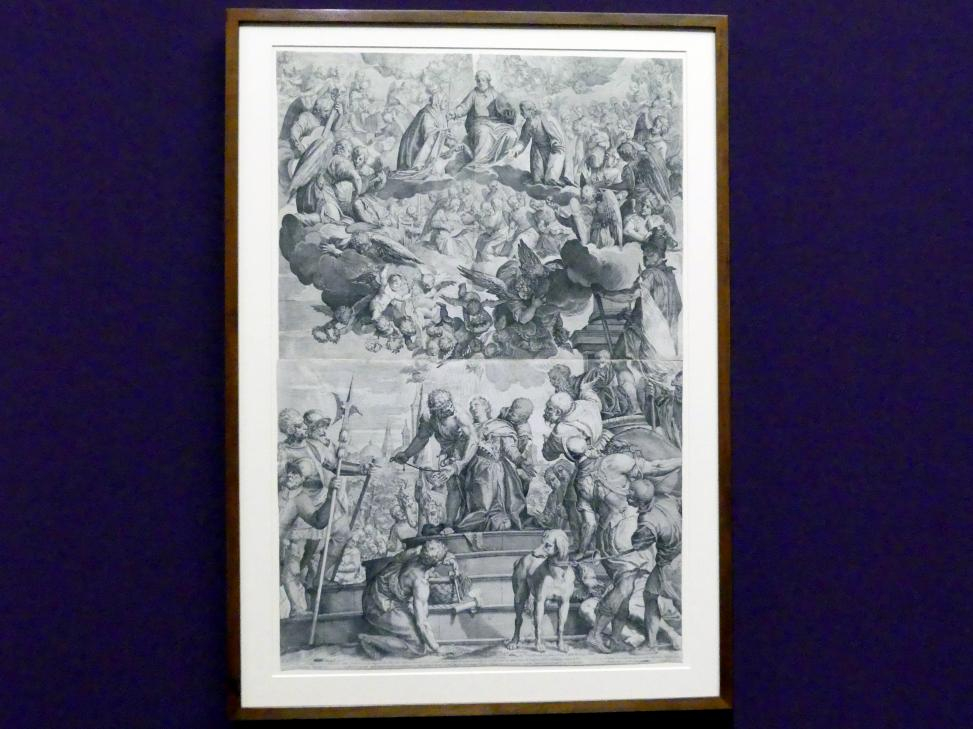 Agostino Carracci: Martyrium der heiligen Justina (nach Paolo Veronese), 1582