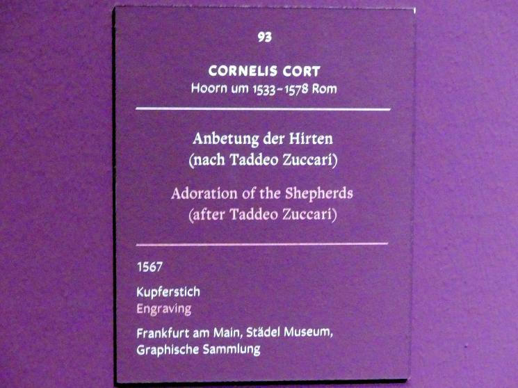 Cornelis Cort: Anbetung der Hirten (nach Taddeo Zuccari), 1567, Bild 2/2